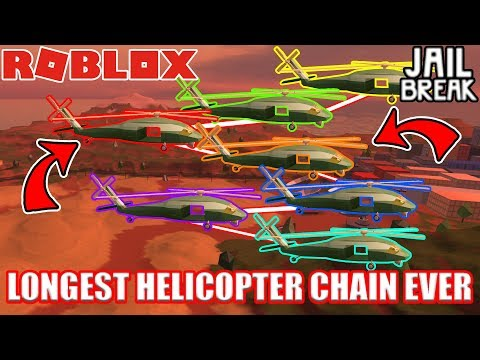 The LONGEST Helicopter Chain (10+ HELICOPTERS) EVER MADE!!!  | Roblox Jailbreak