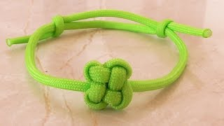 "How You Can Tie A Paracord ""Chinese Clover"" Friendship Bracelet With Sliding Knot"