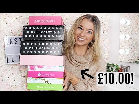 UNBOXING APRIL/MAY £10 BEAUTY SUBSCRIPTION BOXES / Glossybox, Birchbox, Roccabox