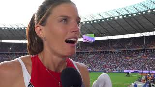 Lea Sprunger (SUI) after the Semifinals of the 400m Hurdles