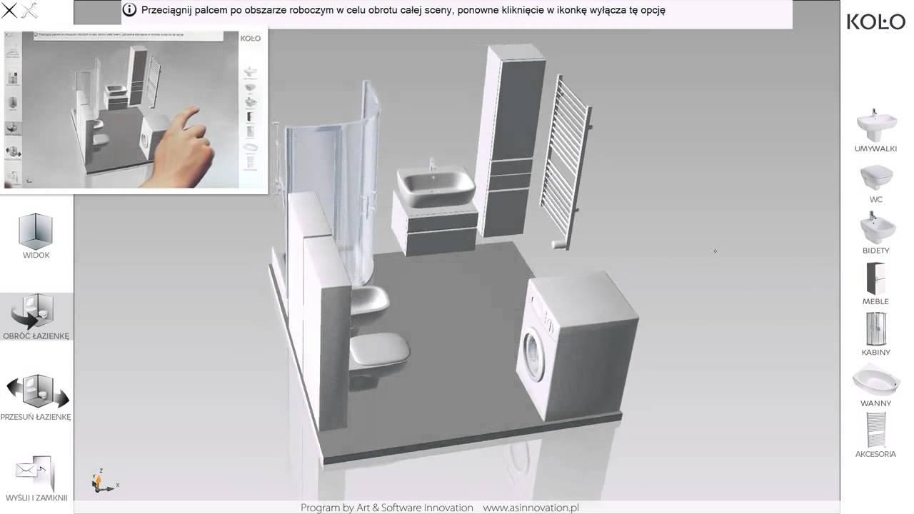 In360 Aranżacja Projekt łazienki Koło