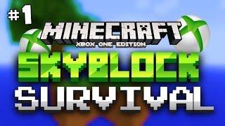 minecraft xbox one skyblock survival part 1 don t fall sky block minecraft xb1 edition