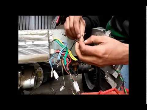 Connections and Wiring of Brushless dc motor 48v with controller  YouTube