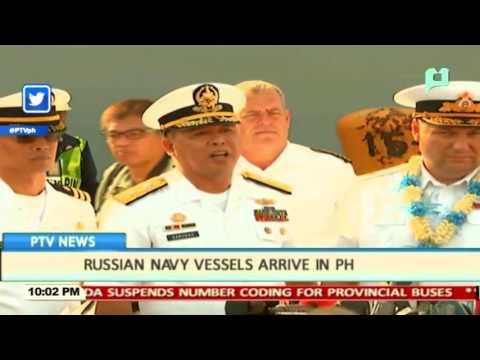 Russian Navy Vessels arrive in PHL