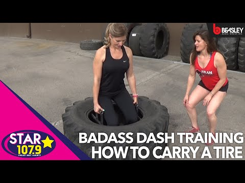 BADASS Dash training with Aimee: The best way to carry a tire