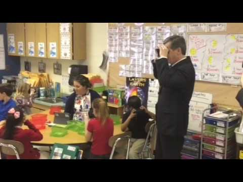 N.C. Gov. Roy Cooper visited Bradley Creek Elementary School on Wednesday, promoting his plan to inc