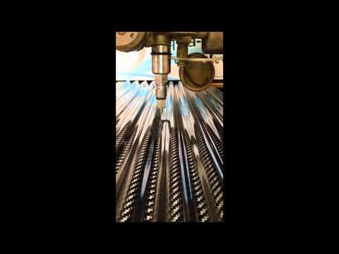 Aqua Dynamics - 3D Programing & Water Jet Cutting Corrugated Carbon Fibre