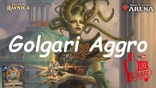 Magic Arena MTGA: Golgari Aggro Deck #2 - Guilds of Ravnica - Standard Contructed