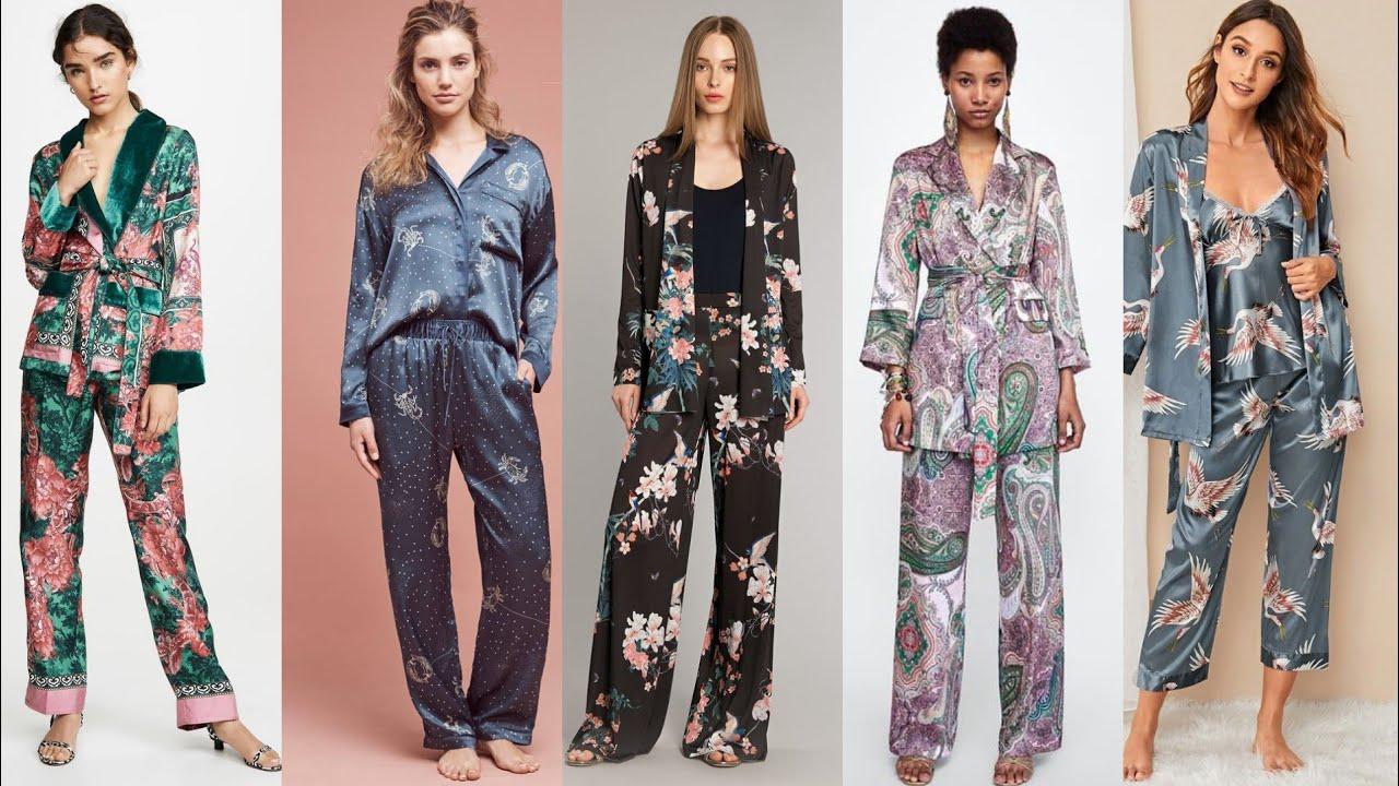 Download new fashion two piece 3 piece night wear pyjamas set