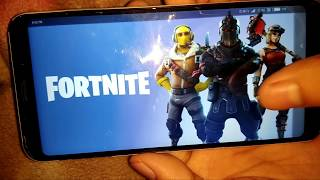 Fortnite android Gameplay in Redmi Note 5 #💯% working🔥🔥