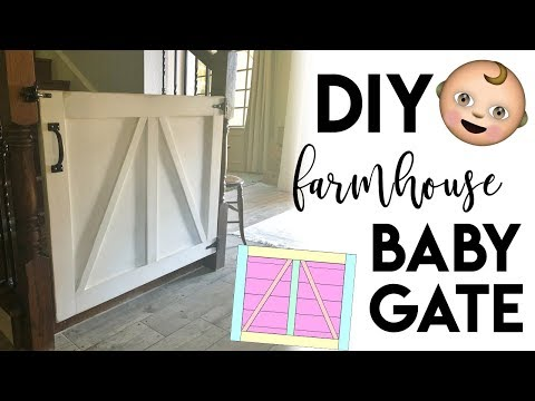 DIY Farmhouse Baby Gate or Pet Gate