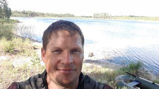 Озеро Малая Гарава Рыбалка Щука на кружки летом