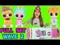 WAVE 2 FULL SET HACK Unboxing L.O.L. Surprise Talking Interactive Live Pet Blind Bag Tube Karolina 1