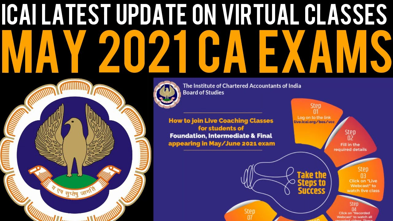 CA Exam May 21 Update - ICAI Latest Update on Virtual Coaching Classes For CA Students