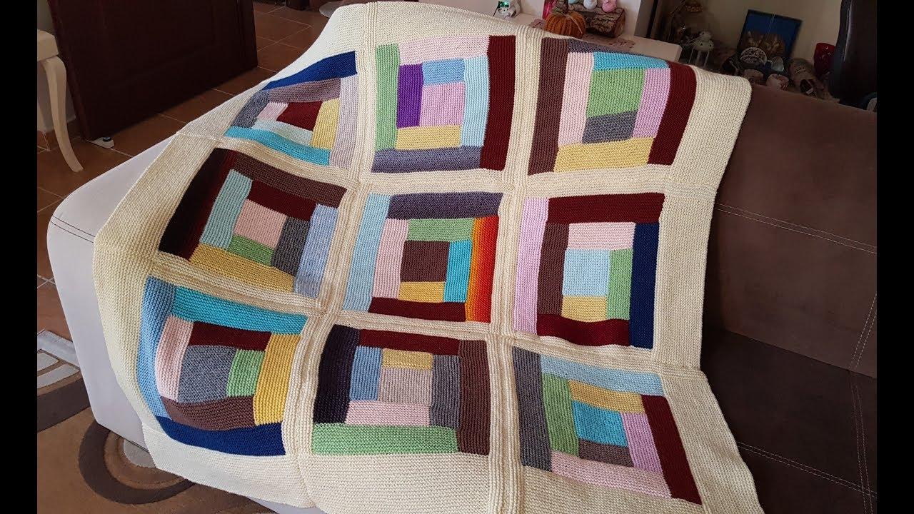 Kırkyama Battaniye  Birleştirme / bölüm 2  / Patchwork  Blanket Knitting Pattern