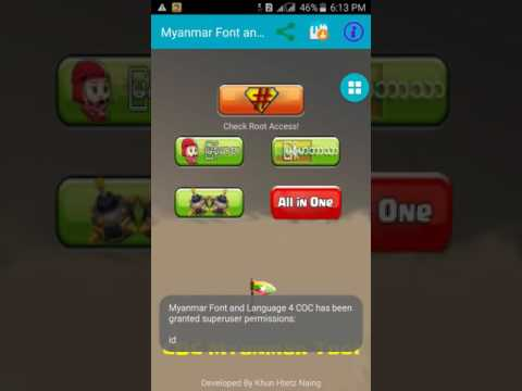How to Install Myanmar Font and Language in Clash Of Calns (COC)