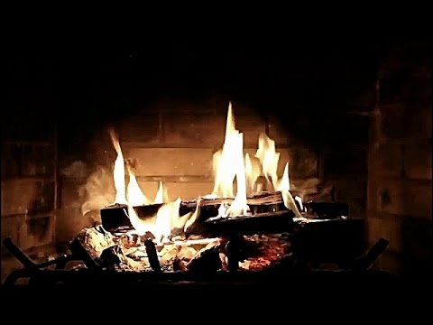 Christmas Music With Fireplace 2016