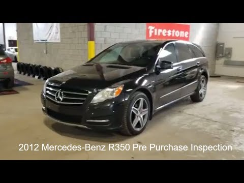 2012 Mercedes Benz R350 Bluetec Pre Purchase in Montreal by Car Inspected