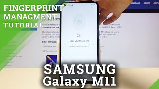 How to Set Up Fingerprint Lock Screen in Samsung Galaxy M11 - Add Fingerprint