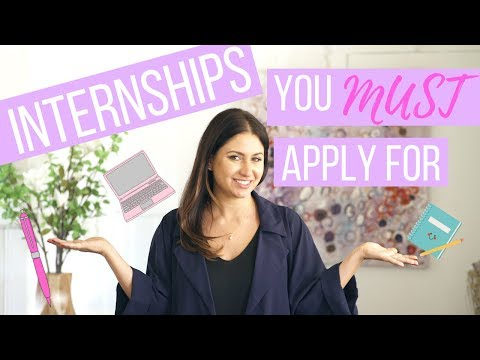 Internships You MUST Apply for Now! | The Intern Queen
