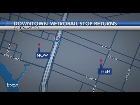 CapMetro opens temporary downtown Austin station