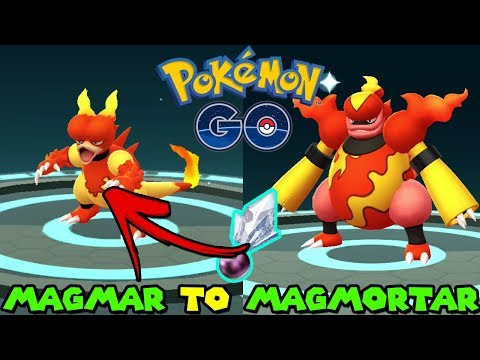 Evolución de PERFECT 100IV MAGMAR A MAGMORTAR EN POKEMON GO - POKEMON GO SHINNOH STONE EVOLUTION