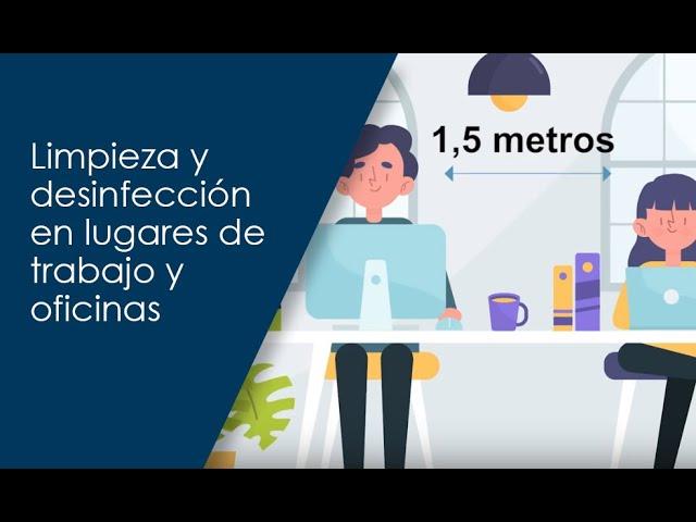 Limpieza y desinfección en lugares de trabajo y oficinas (COVID-19)