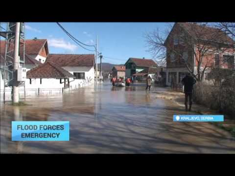 Flood Forces Emergency: Hundreds of houses affected following heavy rain in Serbia