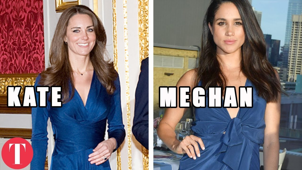 10 Times Meghan Markle COPIED Kate Middleton - YouTube
