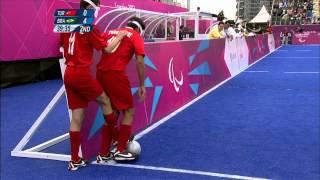 Football 5-a-side - TUR vs BRA - 2nd Half - Men's Prelim. Pool B - London 2012 Paralympic Games