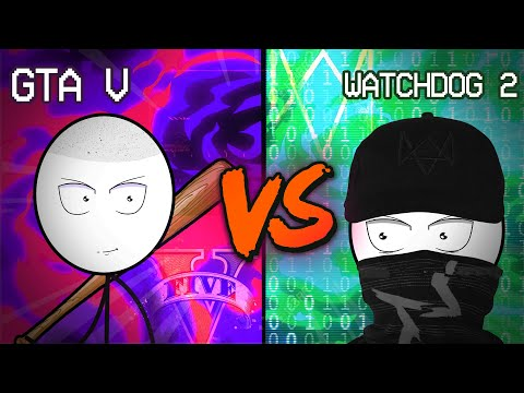 GTA 5 Gamer vs WATCH DOGS 2 Gamer | Gamer's Battle