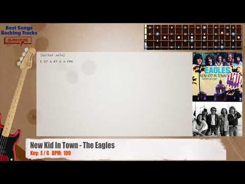 New Kid In Town - The Eagles Bass Backing Track with chords and lyrics