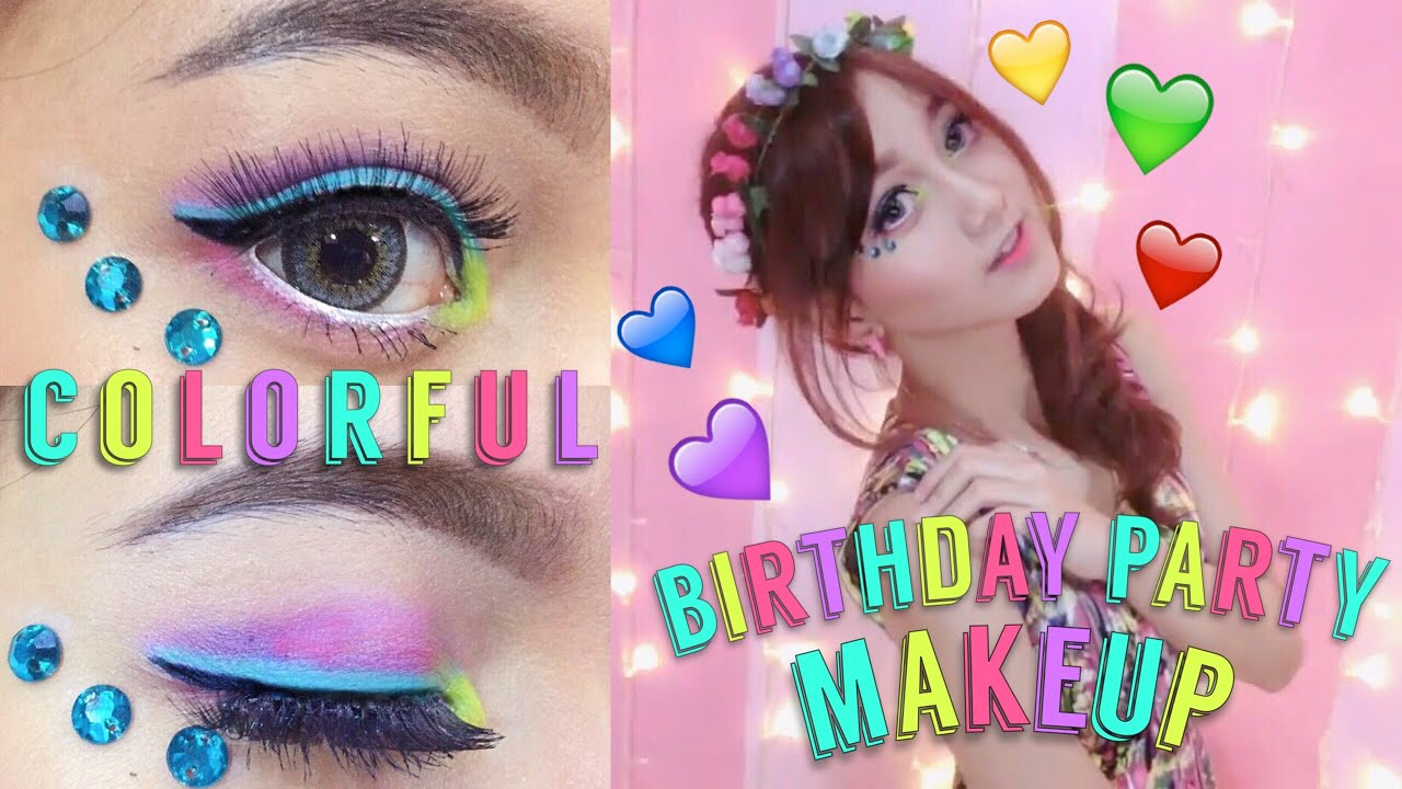 Colorful Birthday Party Makeup Tutorial