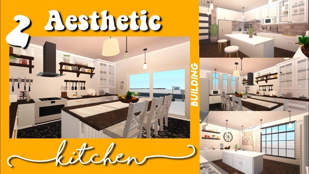 2 Aesthetic Kitchen Ideas Building Bloxburg Youtube
