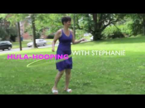 Hula-hooping in Kendrick Park (with
