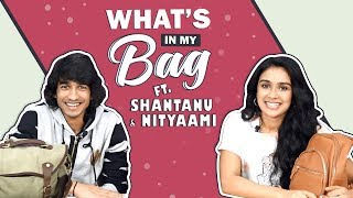 What's In My Bag With Shantanu Maheshwari And Nityaami Shirke (Swapped) | Secrets Revealed