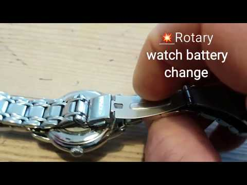 How To Change A ROTARY WATCH BATTERY 😍