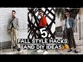 5 Mens Fall Fashion HACKS + DIY Project Ideas! (2017) // Imdrewscott