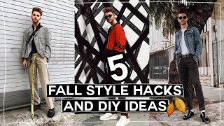5 Mens Fall Fashion HACKS + DIY Project Ideas! (2017) // Imdrewscott