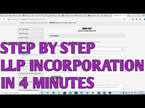 How to Incorporate LLP through Form Fillip 2020 | Incorporate Limited liability partnership firm