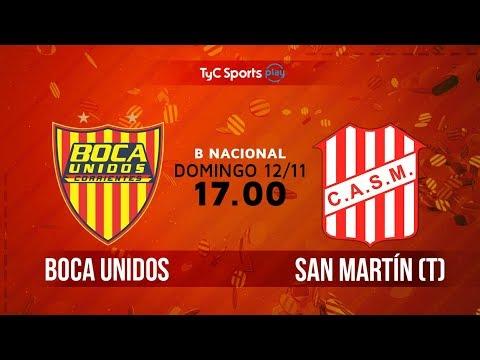 Primera B Nacional: Boca Unidos vs. San Martín (T)   #BNacionalenTyC