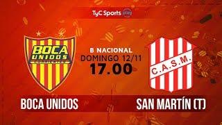 Boca Unidos vs San Martin de Tucuman full match