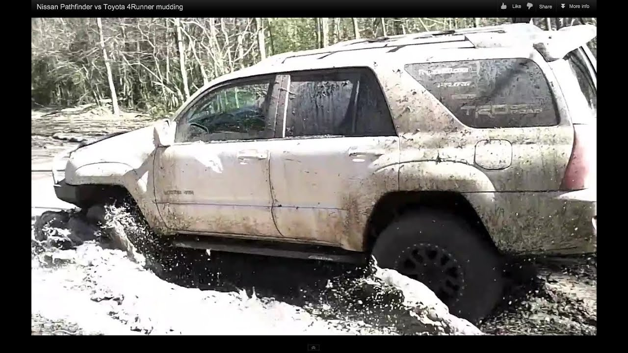 nissan pathfinder vs toyota 4runner mudding youtube. Black Bedroom Furniture Sets. Home Design Ideas