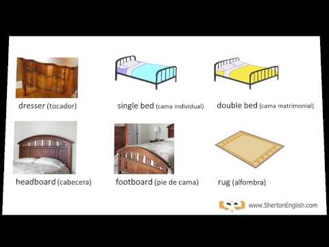 Vocabulario Inglés - El Dormitorio (The Bedroom) - YouTube