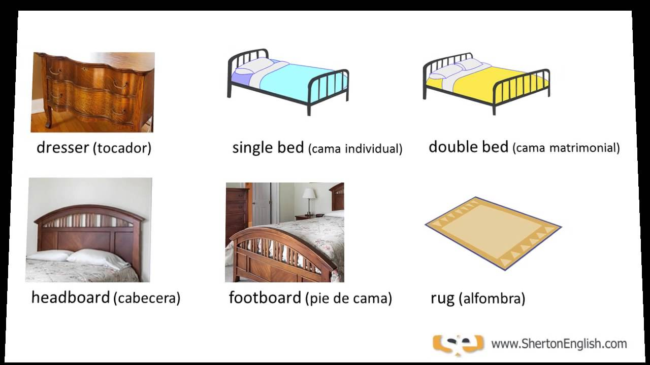 Como Se Dice Mesa En Inglés Vocabulario Inglés El Dormitorio The Bedroom