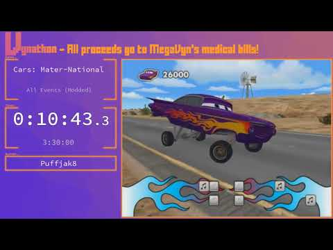 Cars: Mater-National - All Events% (Modded) in 2:59:58 by Puffjak8