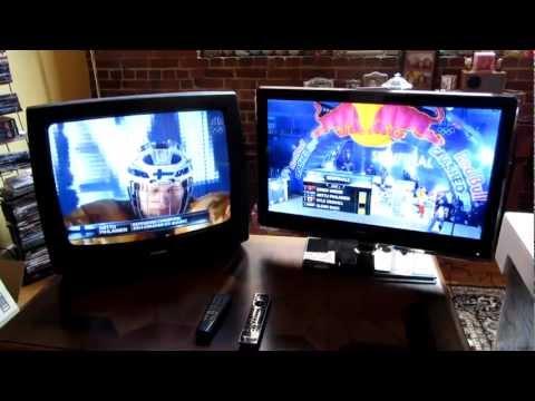 Standard Definition vs High Definition HDTV Side by Side on Hannspree LED HDTV