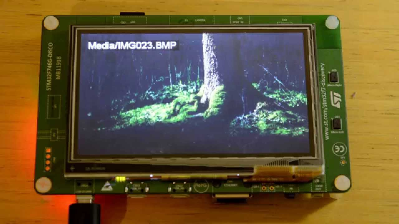 STM32F7 Discovery project - digital photo frame demo by Fabio Angeletti