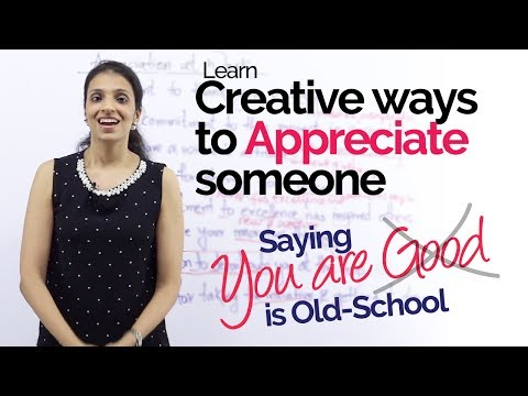 English Speaking Lesson - Creative ways to APPRECIATE someone - Improve Spoken English