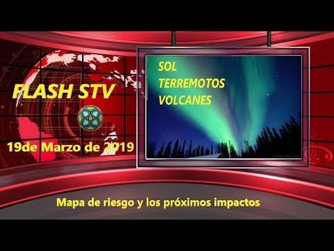 19/03 Informe Solar y Sísmico - Mapas e impactos.